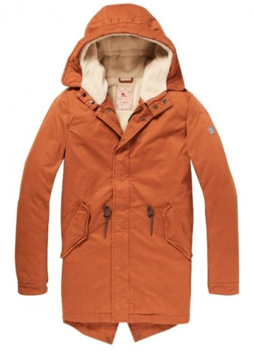 Scotch & Soda Classic Hdd Parka Teddy Lining
