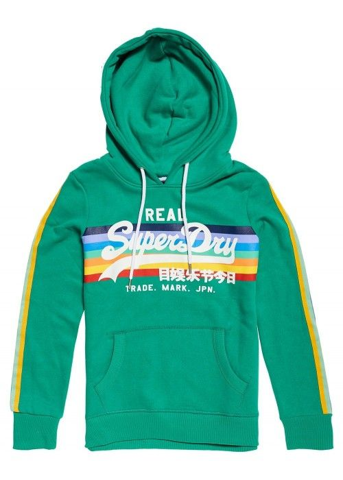 Superdry V Logo Retro Rainbow Entry Hoo