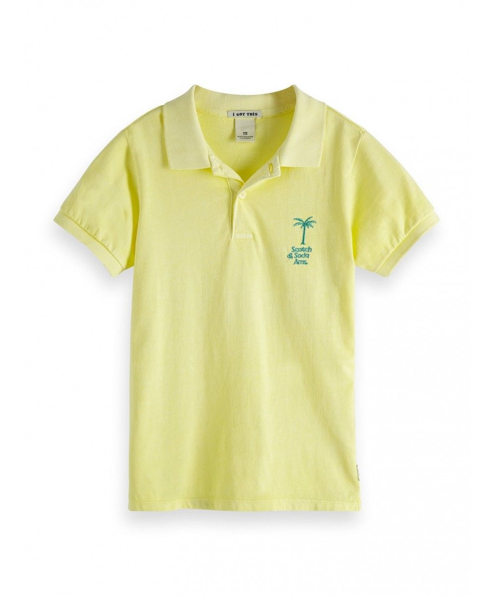 Scotch Shrunk Garment dyed polo in jerse qua