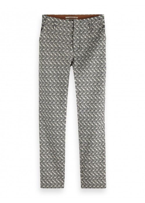 Maison Scotch Tailored Pants in Jacquard Pat