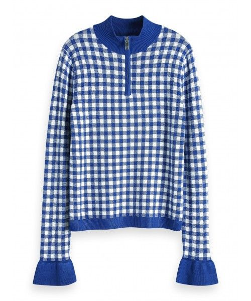 Maison Scotch High neck fitted pullover