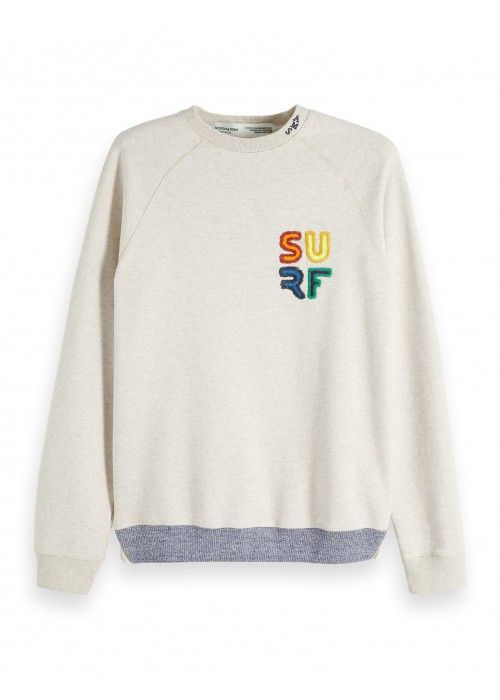 Scotch & Soda Crewneck Sweat with Colourfu