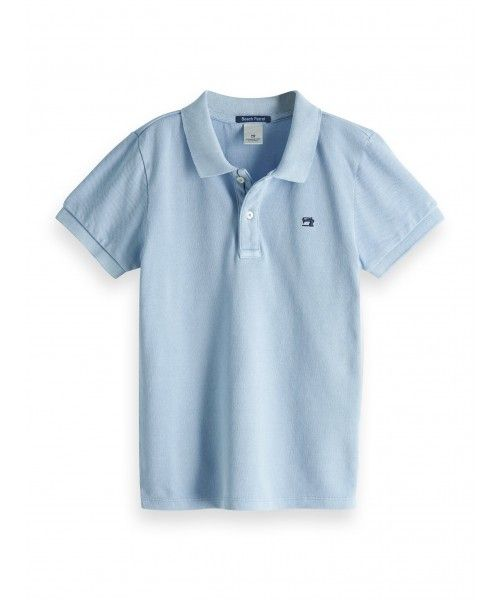 Scotch Shrunk Garment dyed polo in pique qua