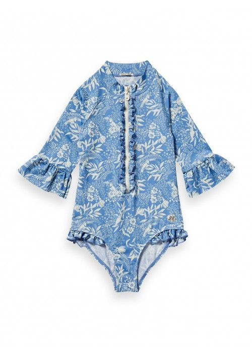 Scotch R'belle UV protection swimsuit ruffle