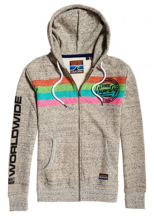 Superdry Ticket Type Stripe ziphood