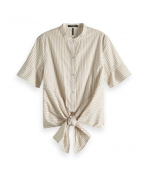 Maison Scotch Crispy cotton short sleeve shi