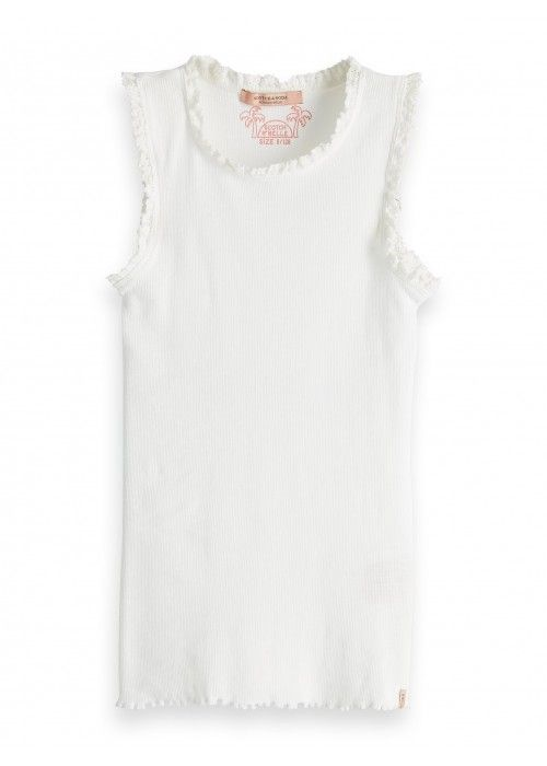Scotch R'belle Basic rib tank top lace detail
