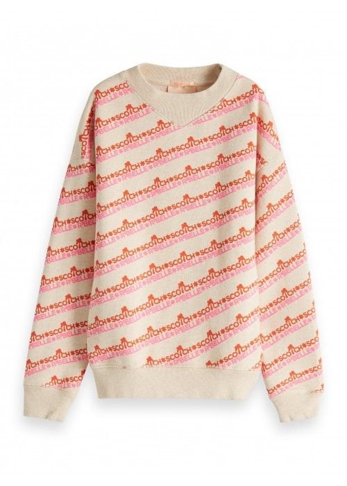 Scotch R'belle allover printed boxy crewneck