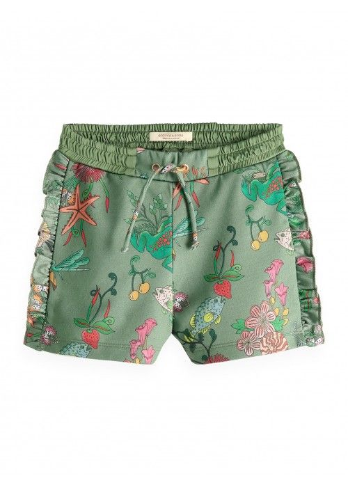 Scotch R'belle mercerized shorts with ruffle