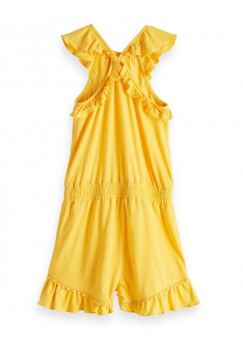 Scotch R'belle jersey playsuit with ruffle