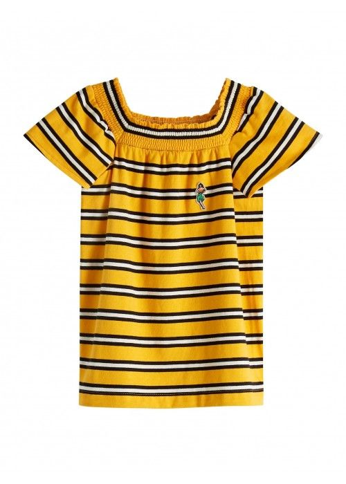 Scotch R'belle smocked s/s tee yarn dye strip