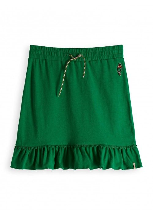 Scotch R'belle Jersey mini skirt with ruffle