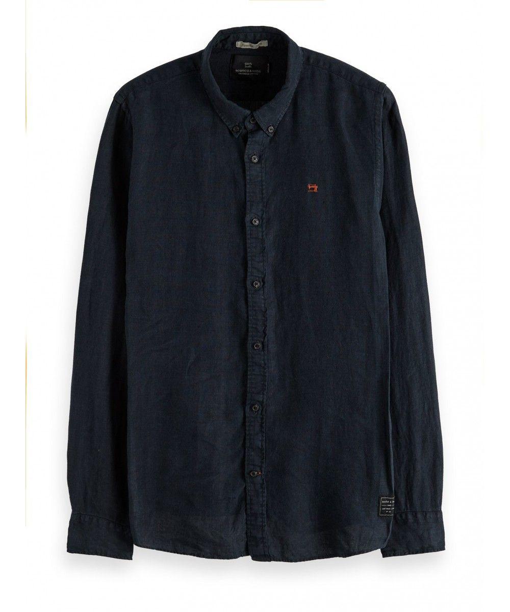 Scotch & Soda Regular fit garment dyed linen