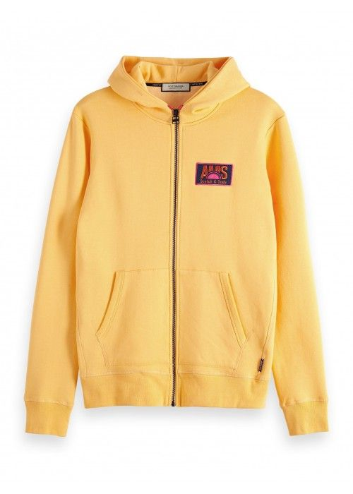 Scotch & Soda Classic zip thru hoodie