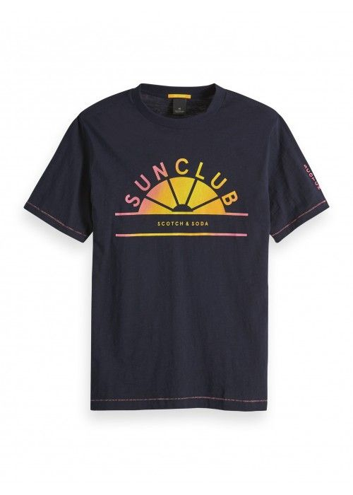 Scotch & Soda Crewneck tee with multi artwor