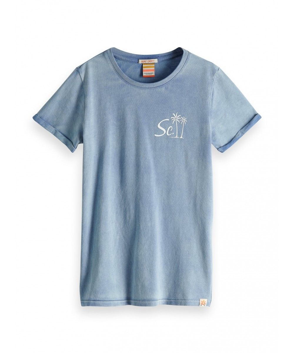 Scotch Shrunk Tee with artwork and washing