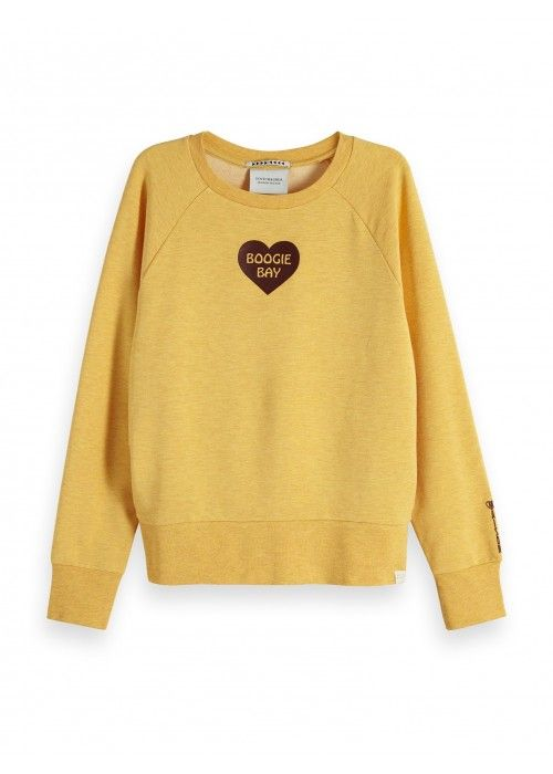 Maison Scotch Relaxed fit sweat with rock