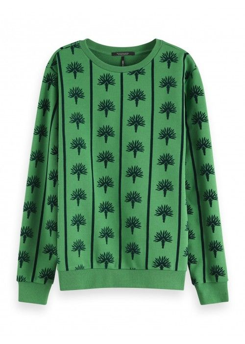 Maison Scotch Crewneck sweat with flock