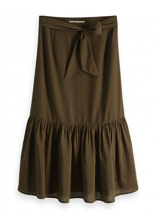 Maison Scotch Belted midi length skirt
