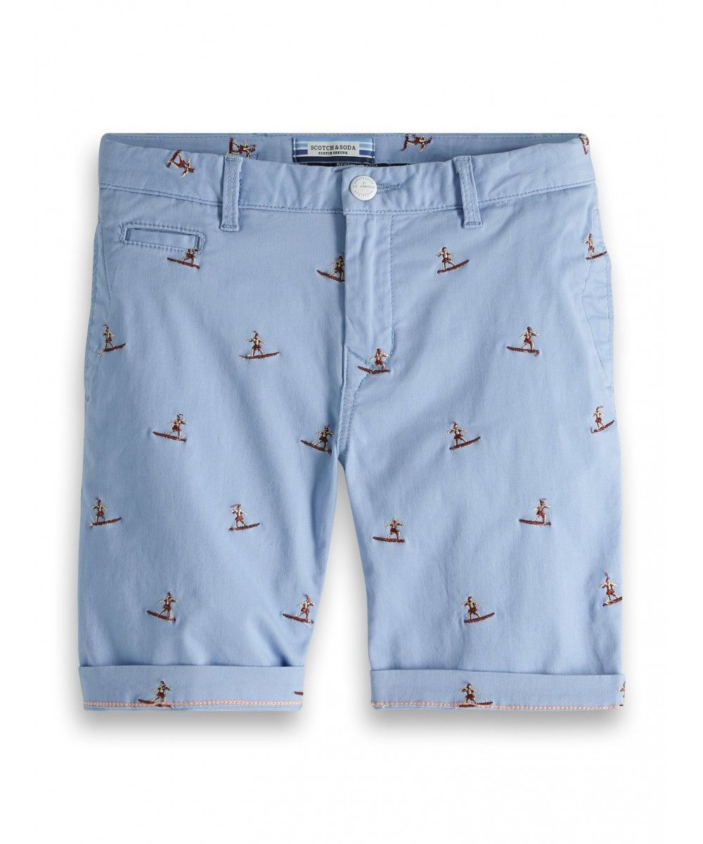 Scotch Shrunk Chino shorts all over embroide