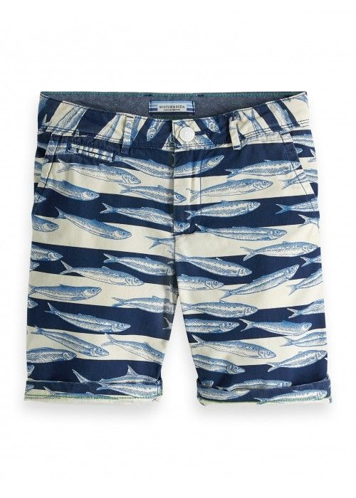 Scotch Shrunk All over printed shorts poplin