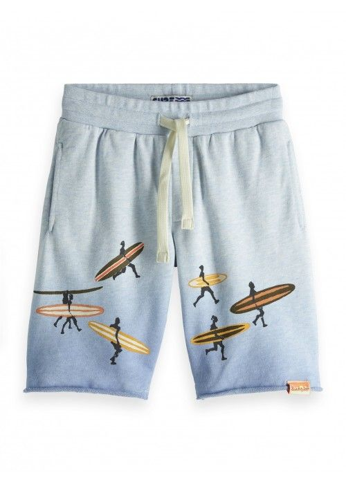 Scotch Shrunk Sweatshorts placed artworks