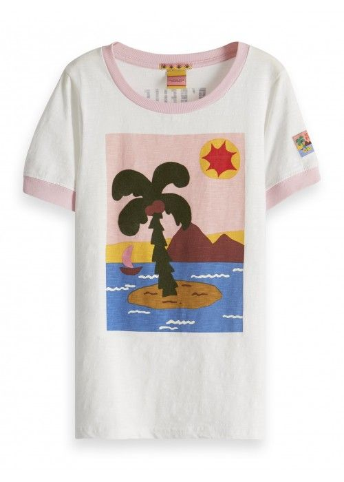 Scotch R'belle Regular fit s/s tee bold summe