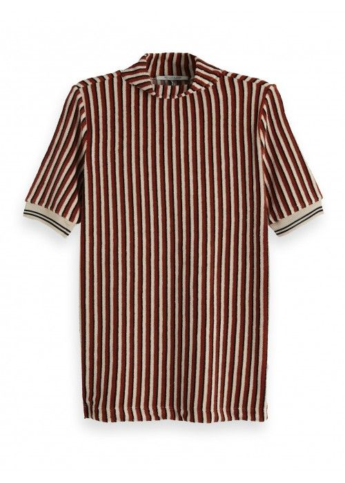 Maison Scotch Striped top in terry