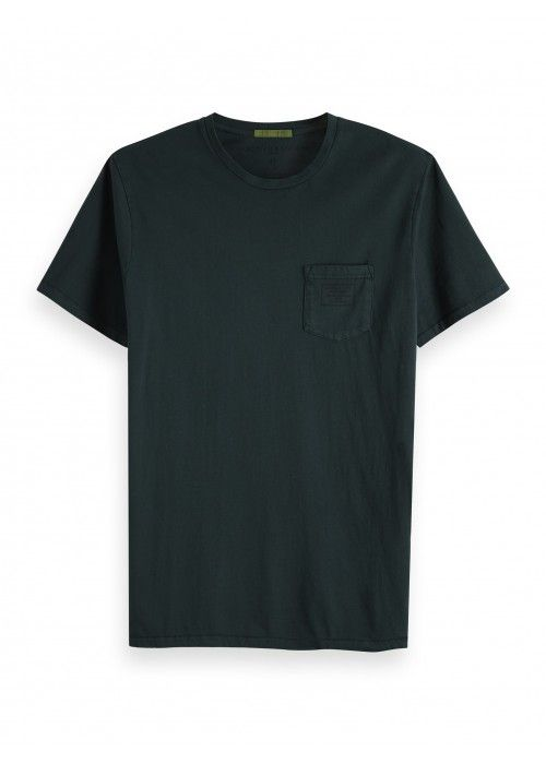 Scotch & Soda Garment dyed crewneck tee