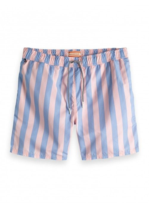 Scotch & Soda Preppy striped swimshort