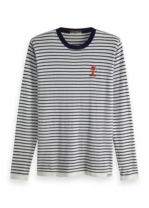 Scotch & Soda Lightweight striped crewneck