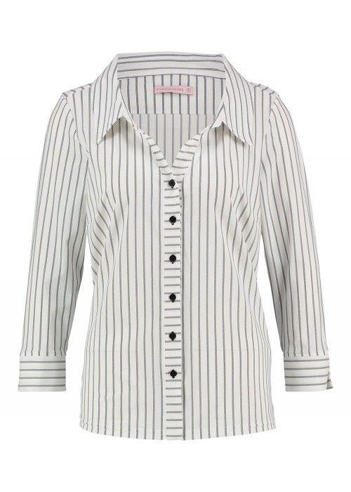 StudioAnneloes Sara Blouse Stripe Collar