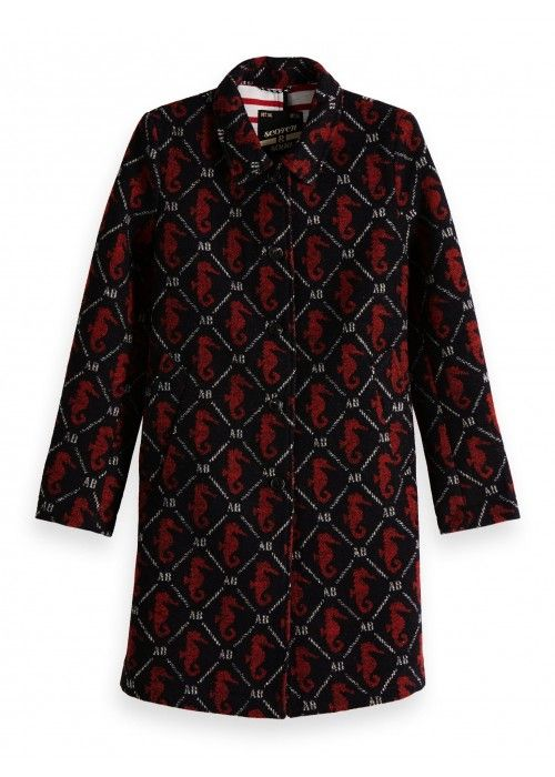 Maison Scotch A-line jacket in bonded wool