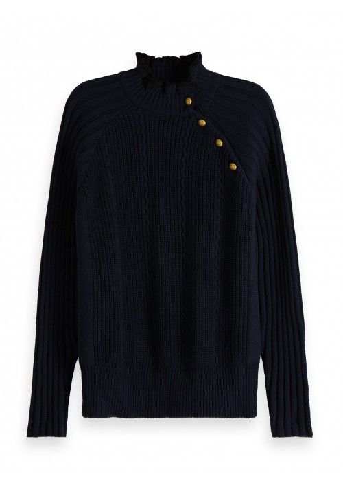 Maison Scotch Basic pull with button