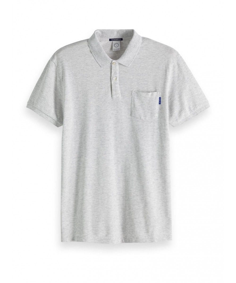 Scotch & Soda Blauw garment dyed polo