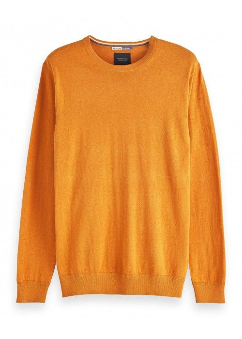 Scotch & Soda AMS Blauw crewneck pull