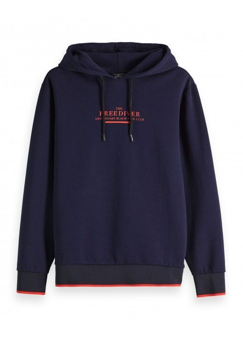 Scotch & Soda Clean hooded sweat