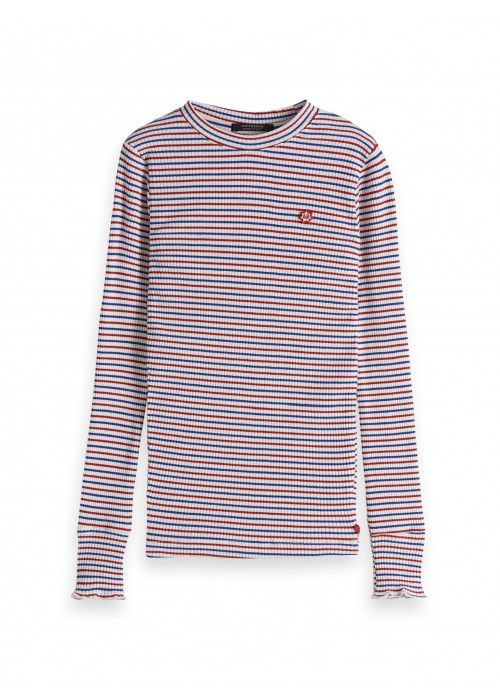 Scotch R'belle Striped l/s with ruffle