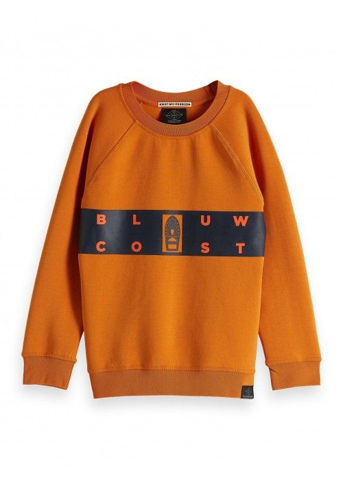 Scotch Shrunk Blauw coast crewneck sweat