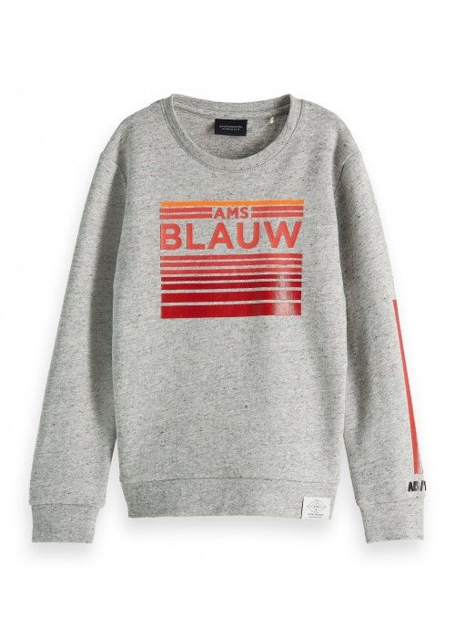 Scotch Shrunk Blauw crewneck sweat