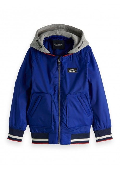 Scotch Shrunk AMS Blauw bomber jacket