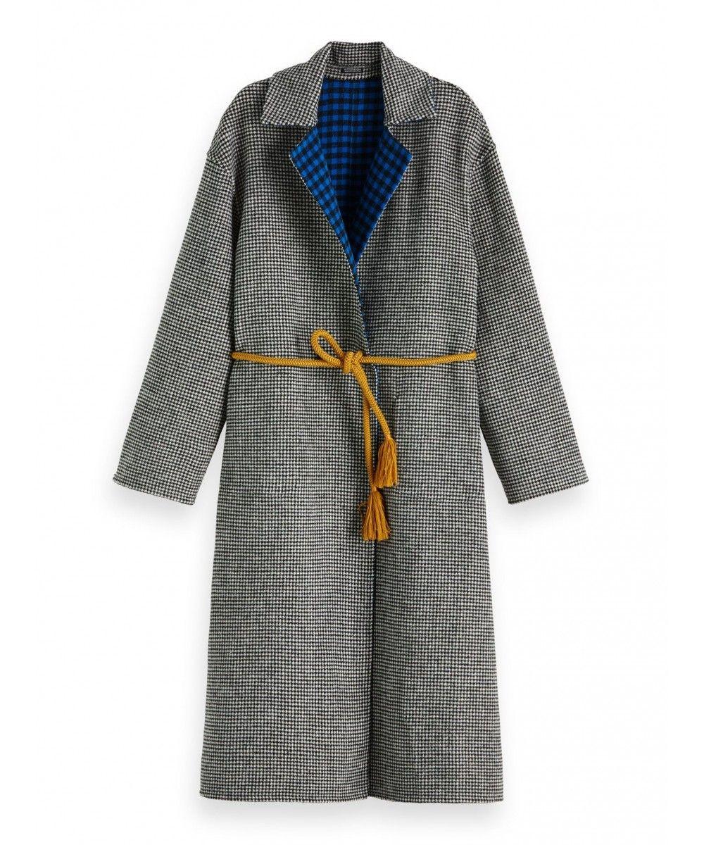 Maison Scotch Reversible wool jacket