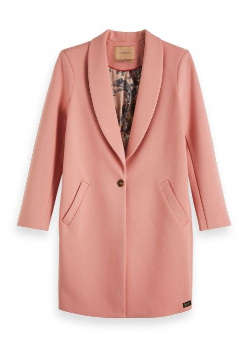 Maison Scotch Tailored jersey coat