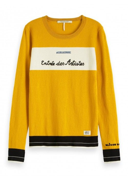 Maison Scotch Basic crewneck pullover
