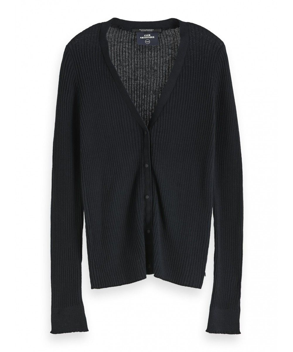 Maison Scotch Knitted rib cardigan