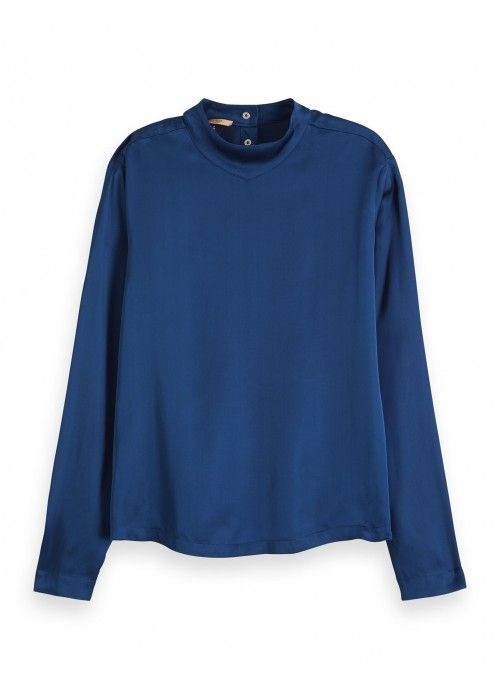 Maison Scotch High neck long sleeve top