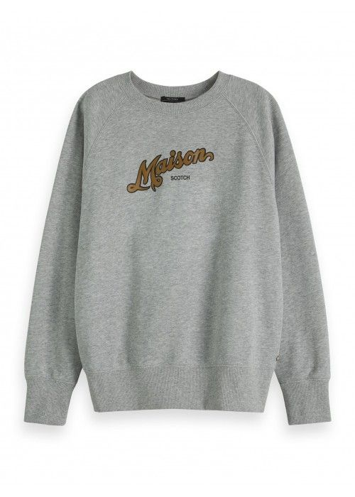 Maison Scotch Crewneck sweat with artwork