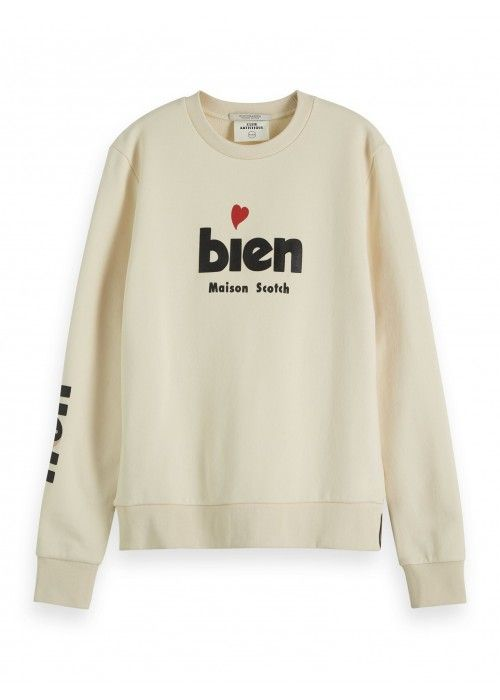 Maison Scotch Crewnwck sweat French artw