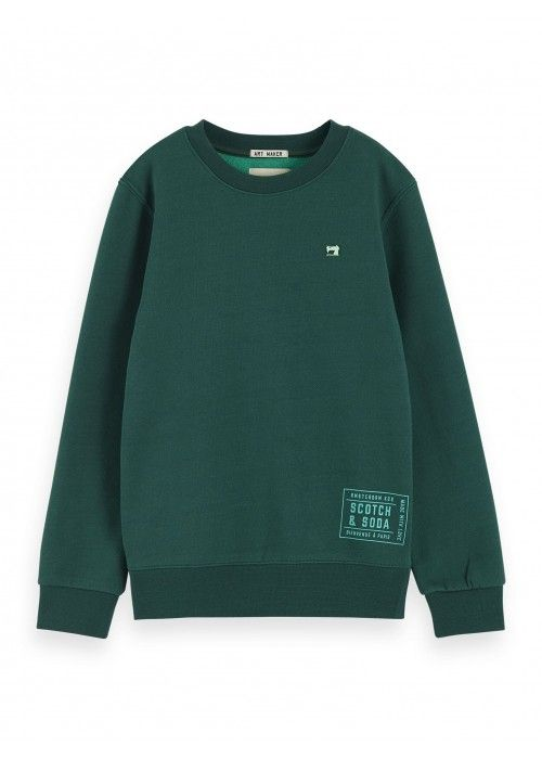 Scotch Shrunk Basic crewneck sweat in two-