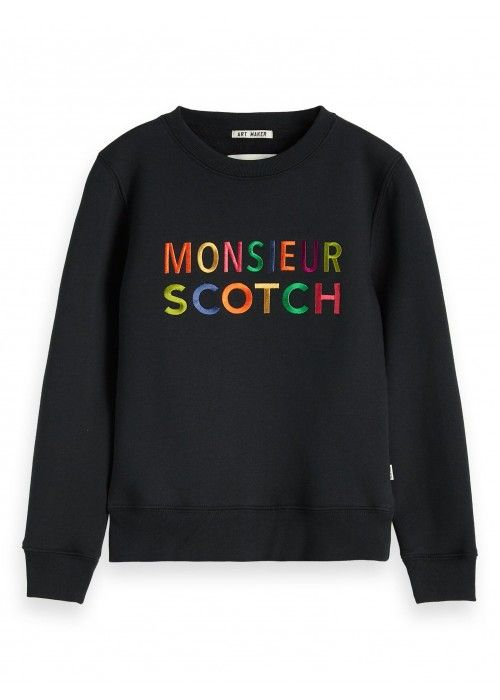 Scotch Shrunk Crewneck sweat with logo art
